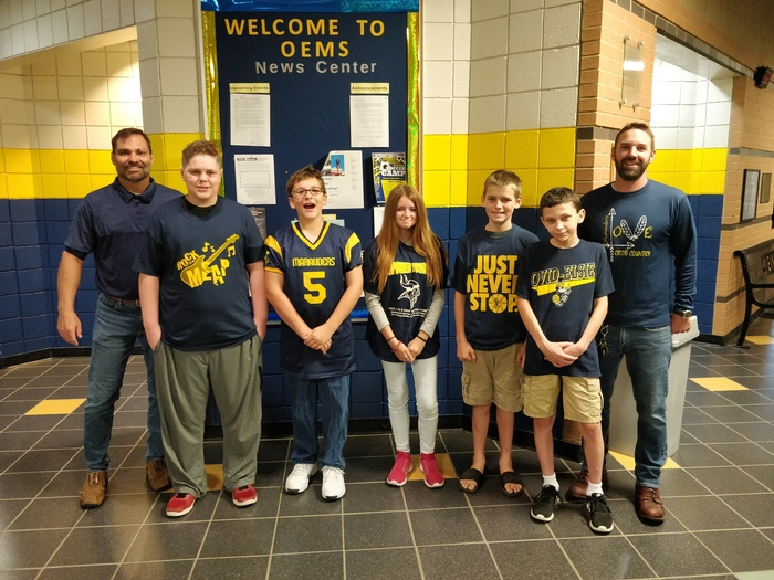 Middle School Blue-Gold Winners