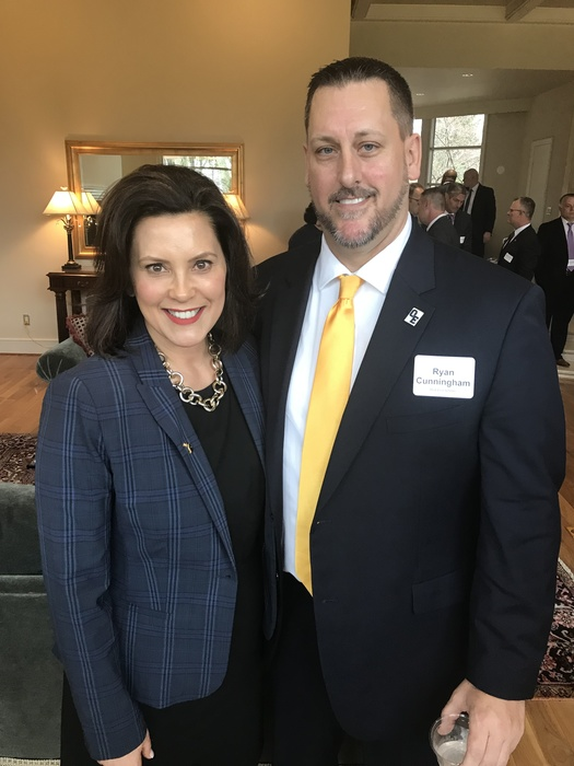 Cunningham with Governor Whitmer