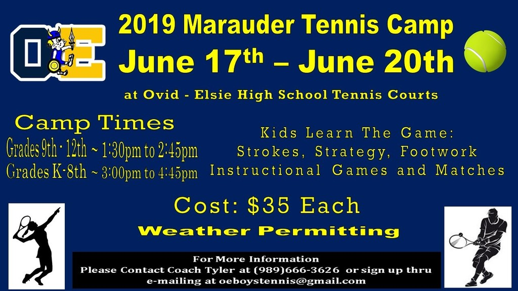 Marauder Tennis Camp