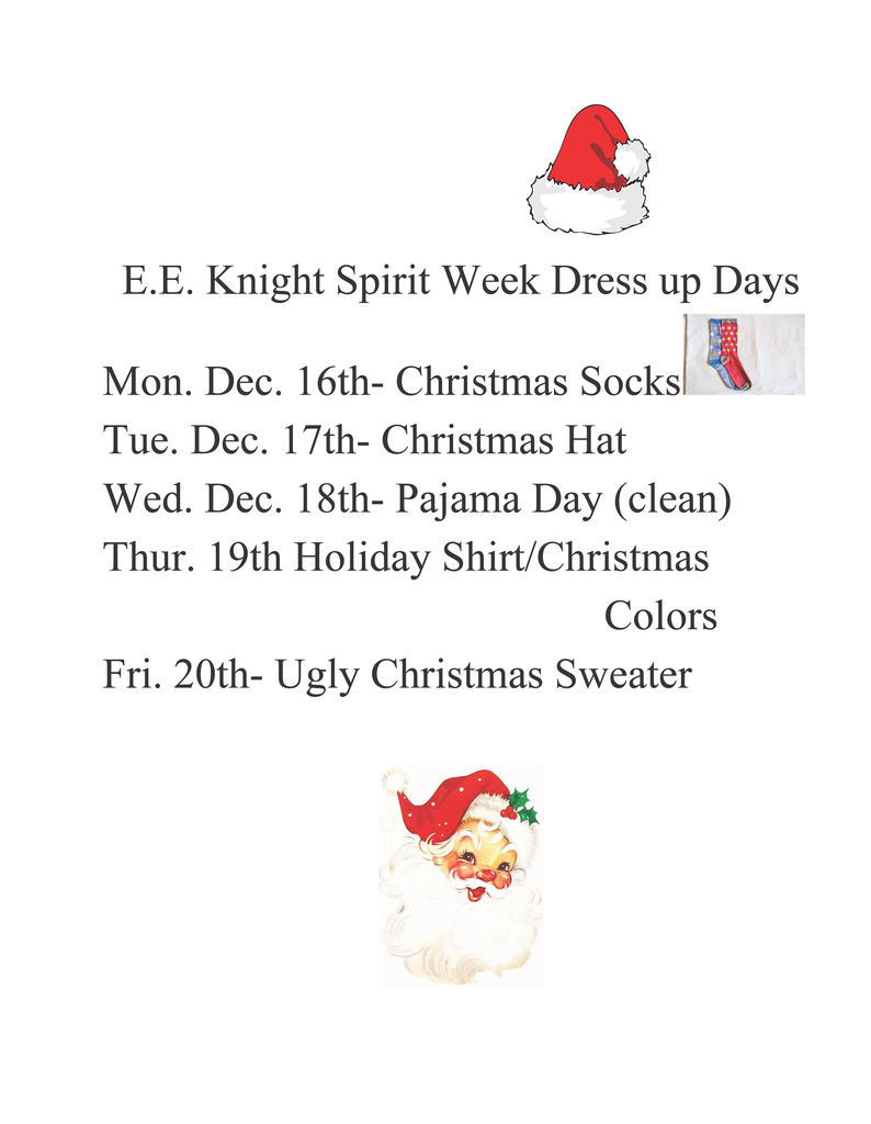 EE Knight - spirit week