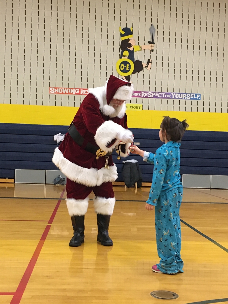 Santa gives the first gift of Christmas!