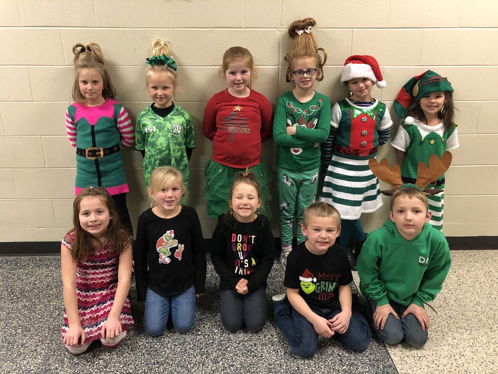 Students wore their favorite Grinch gear.