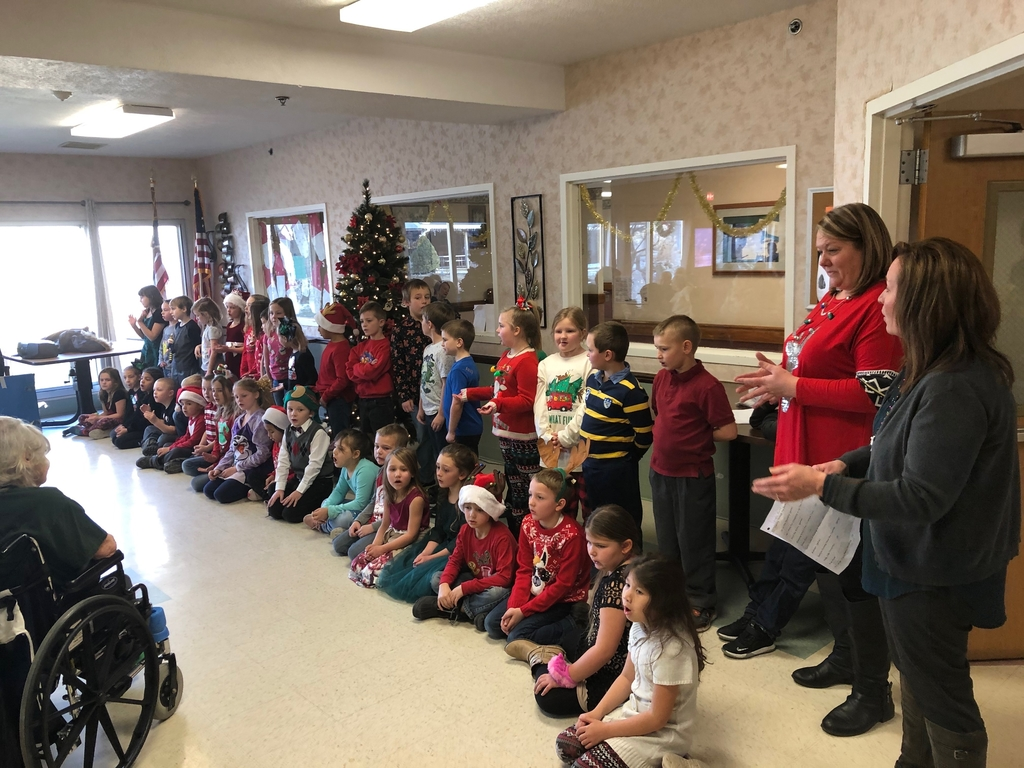 Students enjoyed singing to the residents.