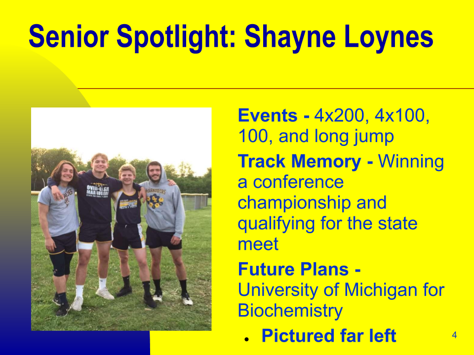 Senior Spotlight: Shayne Loynes