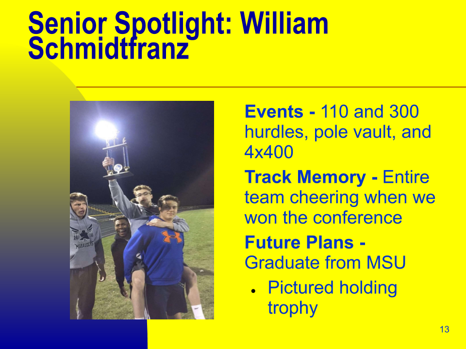 Senior Spotlight: William Schmidtfranz