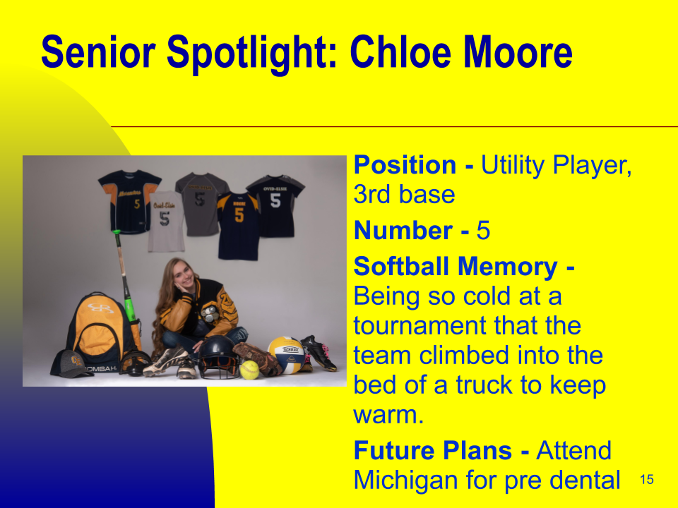 Senior Spotlight: Chloe Moore