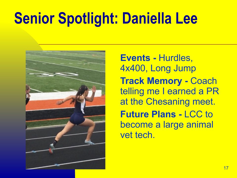 Senior Spotlight: Daniella Lee