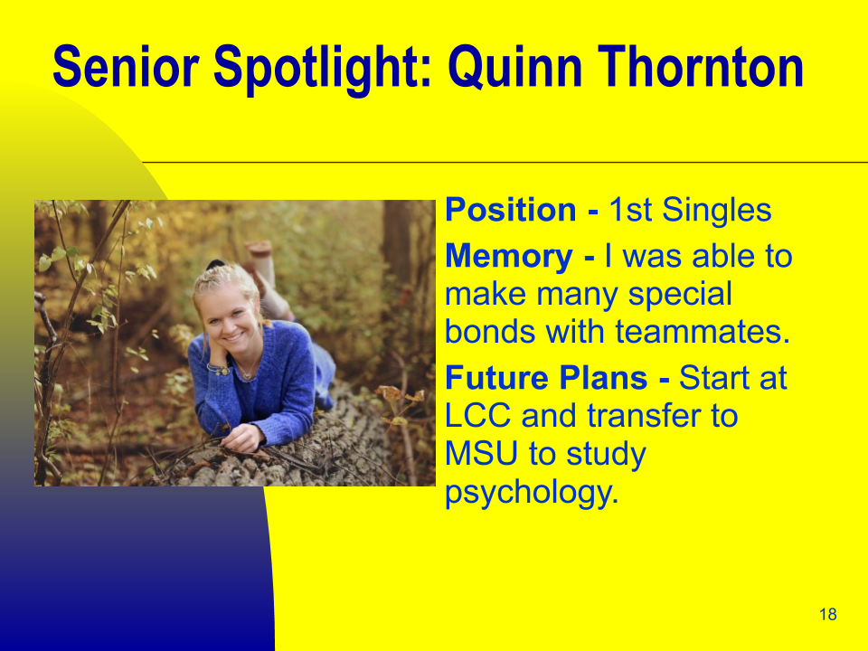 Senior Spotlight: Quinn Thornton
