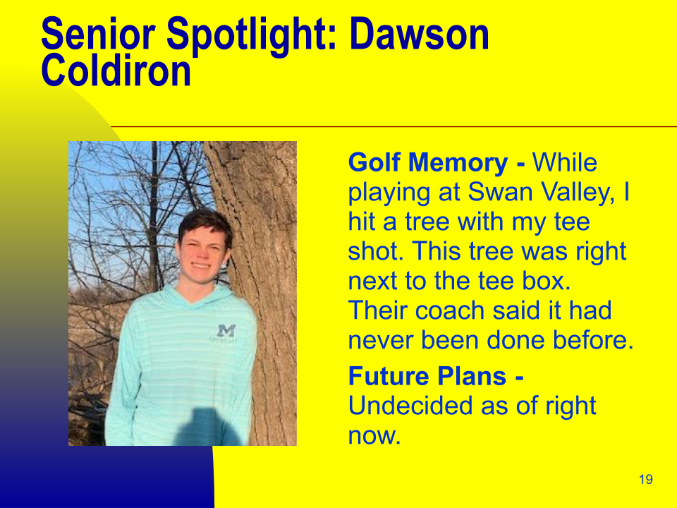 Senior Spotlight: Dawson Coldiron