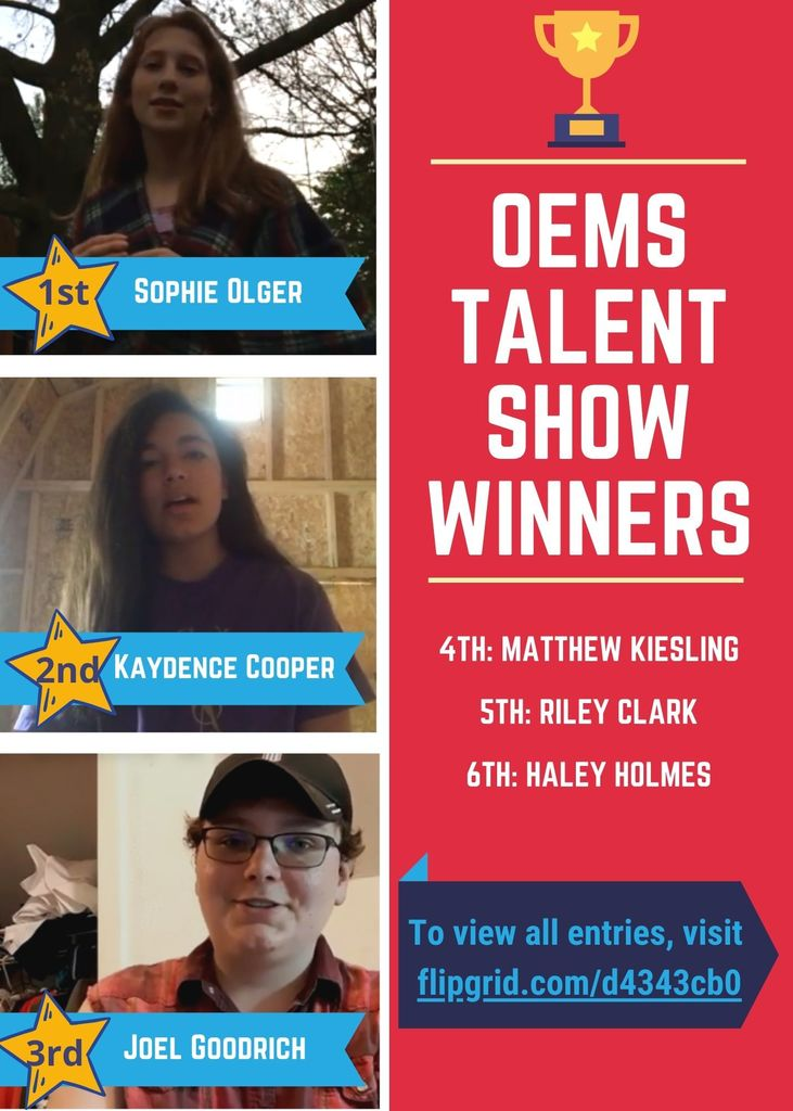 OEMS Talent Show Winners