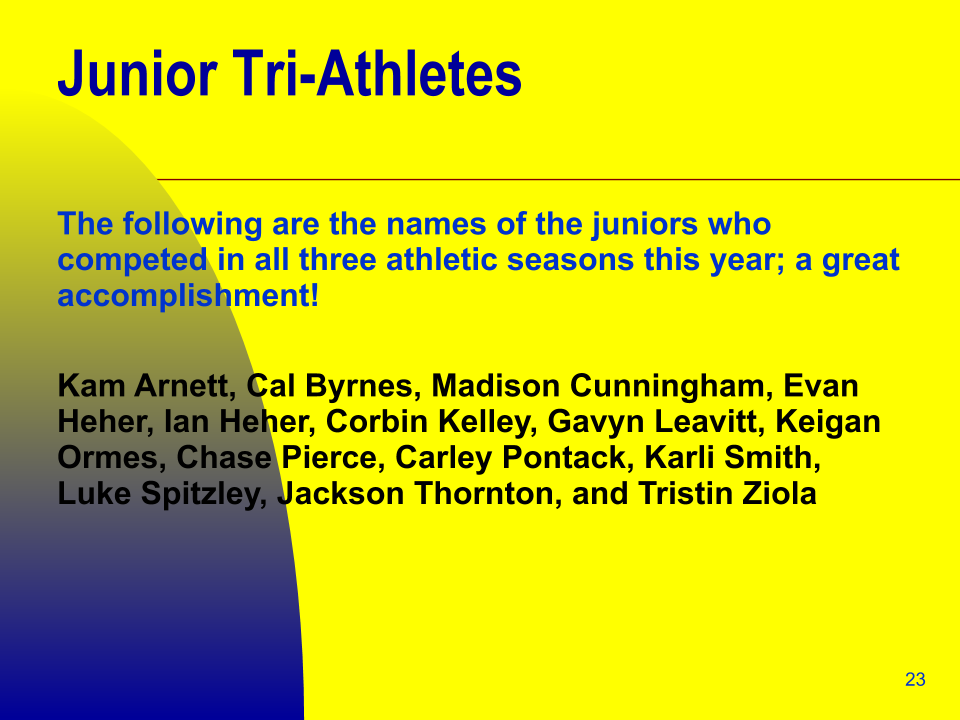 Junior Tri-Athletes