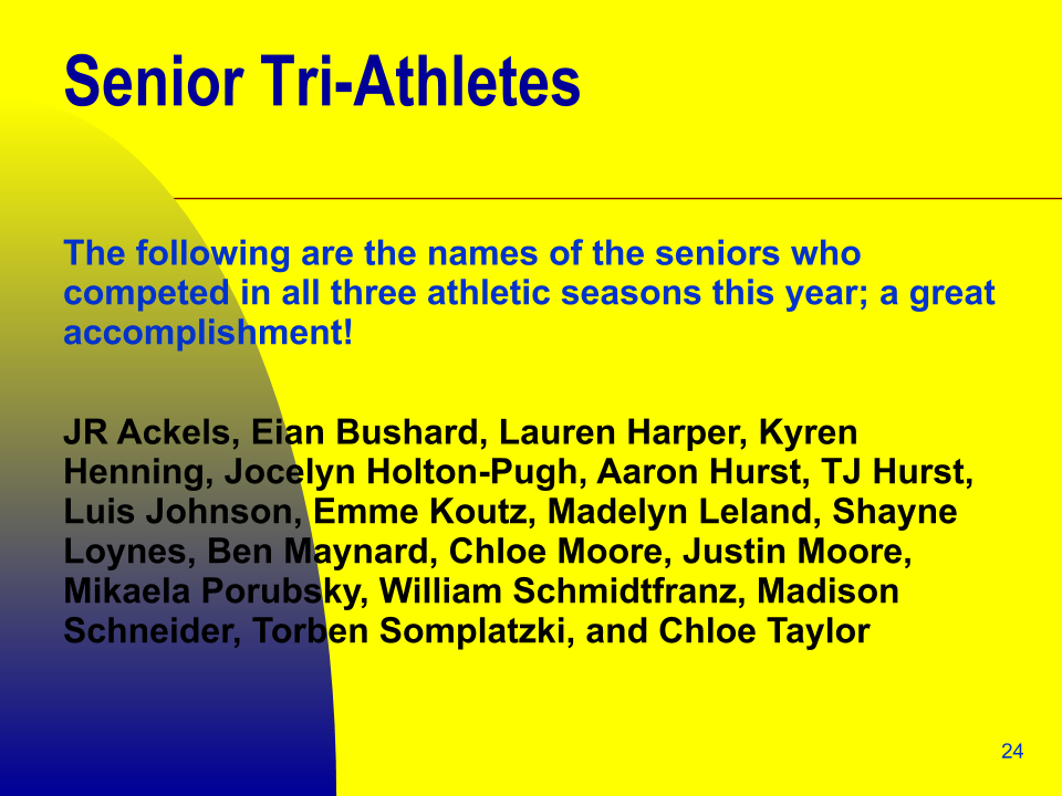 Senior Tri-Athletes